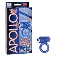 Виброкольцо Apollo 7-Function Premium Enhancers blue 1387-20BXSE