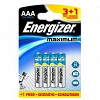 Батарейка Energizer Maximum (AAA) 3+1БЛ
